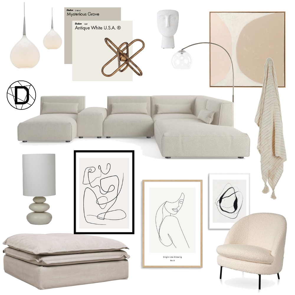 Contemporary Neutral Interior Design Mood Board by Designingly on Style Sourcebook