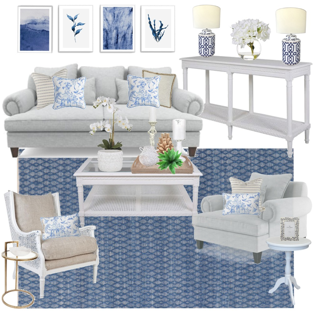 Lounging in the Hamptons Interior Design Mood Board by Decor n Design on Style Sourcebook