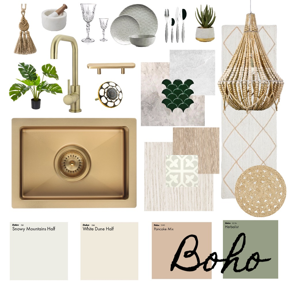 Boho - Kitchen Interior Design Mood Board by Haven Home Styling on Style Sourcebook