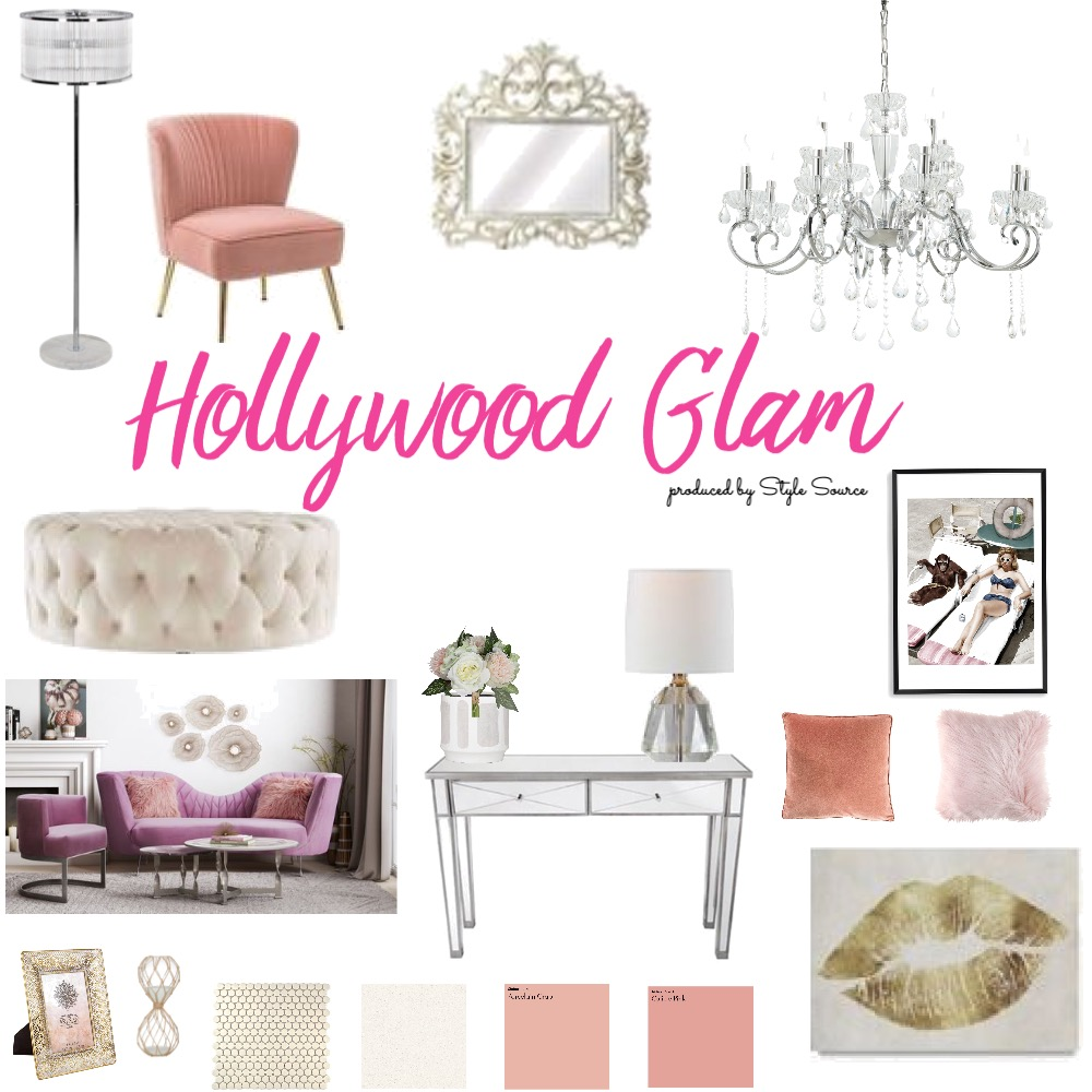 Hollywood Glam Interior Design Mood Board by kellyengst on Style Sourcebook