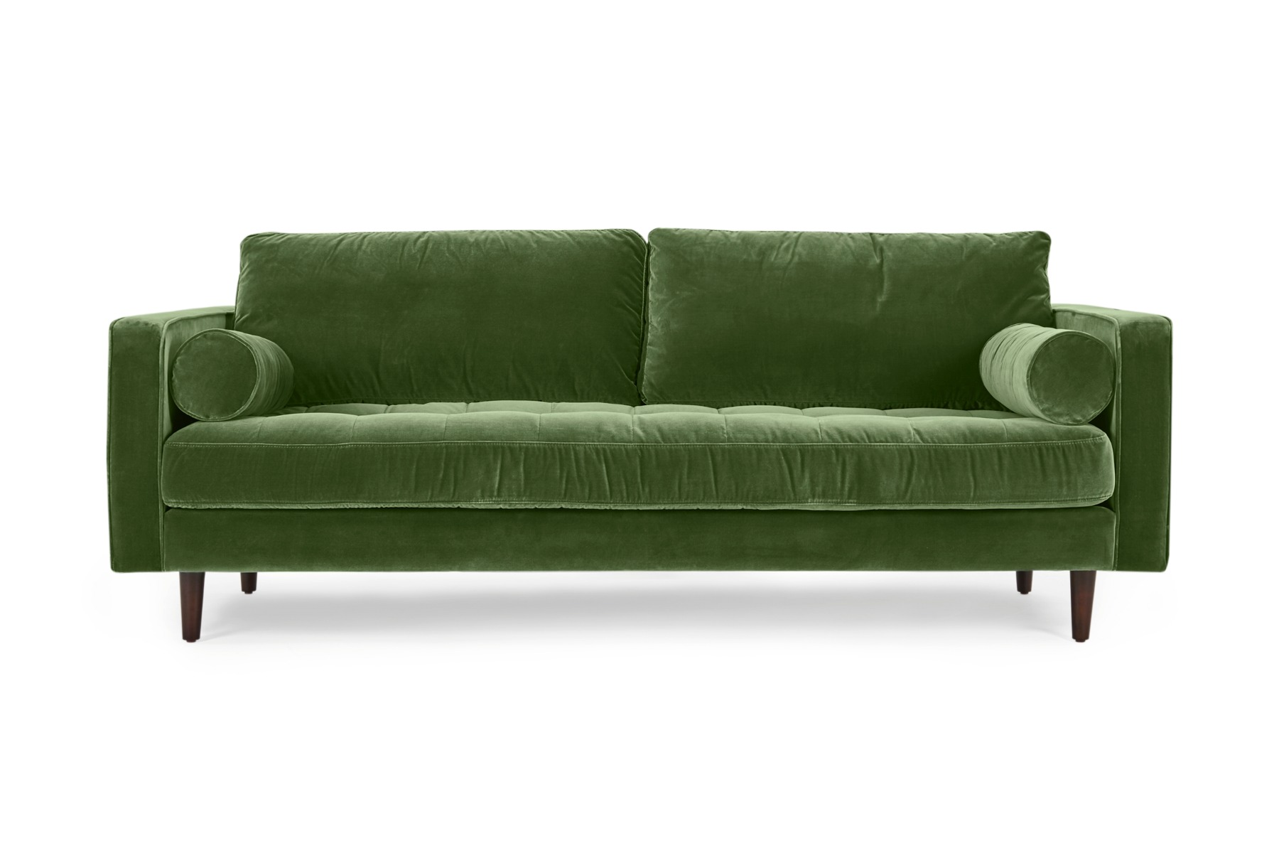 Draper Velvet Classic 3 Seat Sofa Green Velvet by Lounge Lovers by Lounge Lovers, a Sofas for sale on Style Sourcebook