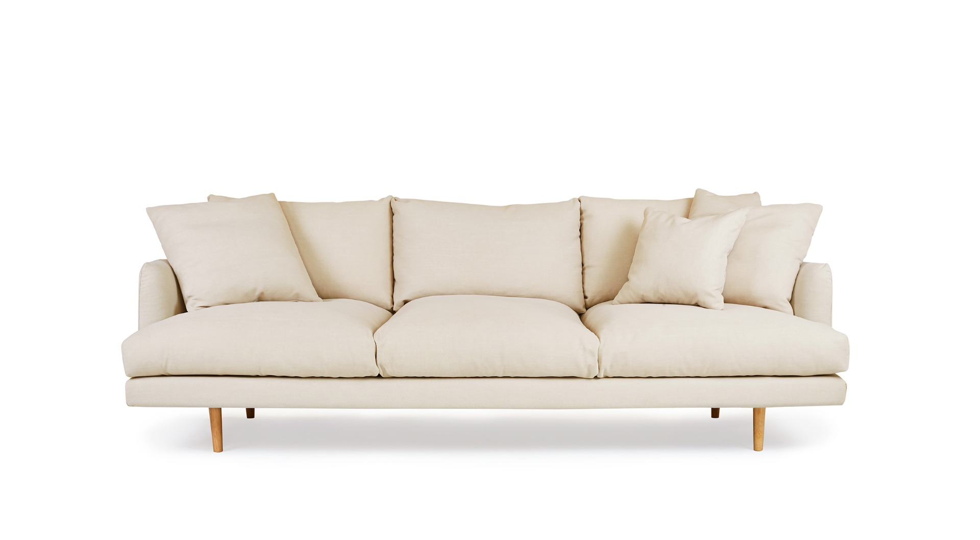 Hampton Coastal 4 Seat Sofa Beige Fabric by Lounge Lovers by Lounge Lovers, a Sofas for sale on Style Sourcebook