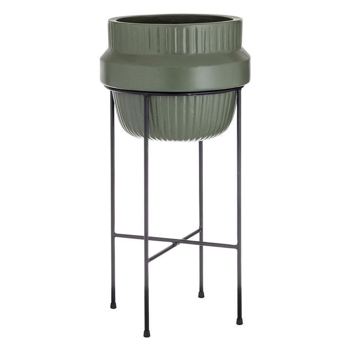 Lewis Planter Pot Cement Olive green/Black Academy by Academy, a Vases & Jars for sale on Style Sourcebook