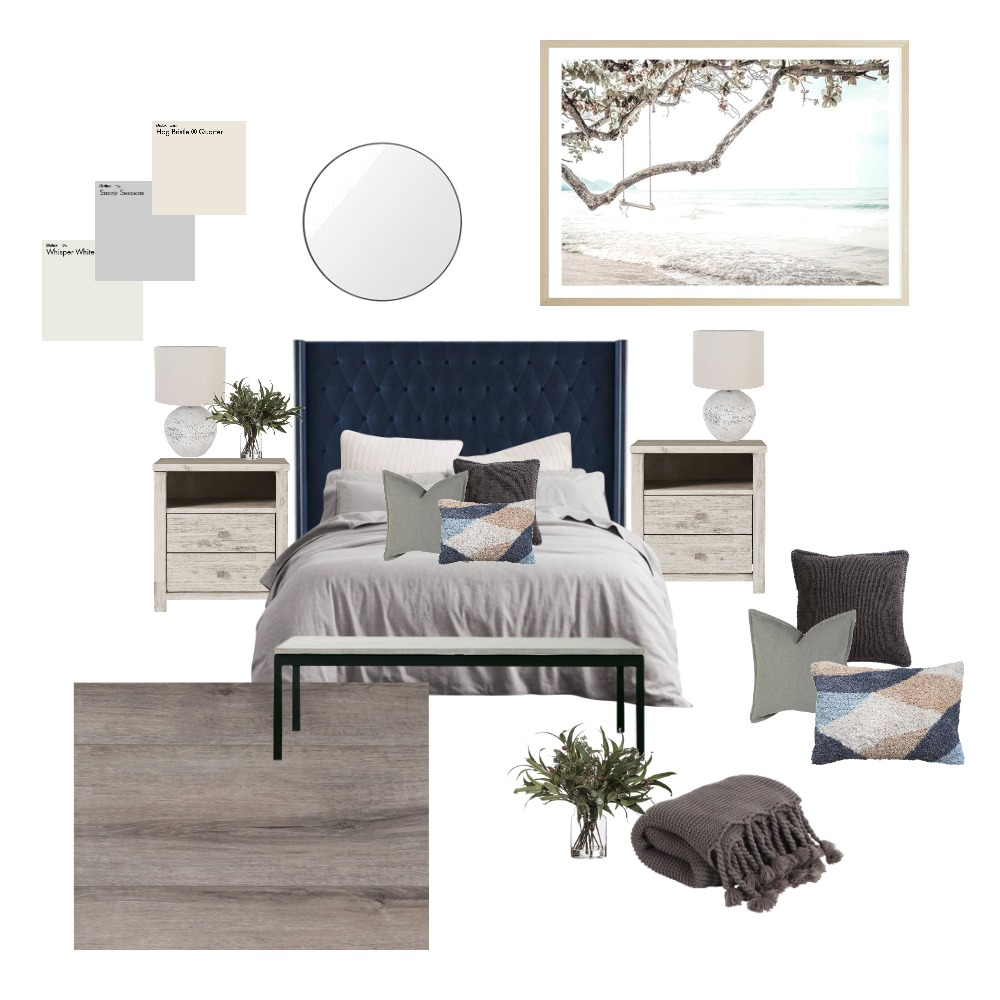 bedroom modern beach Interior Design Mood Board by angiel on Style Sourcebook