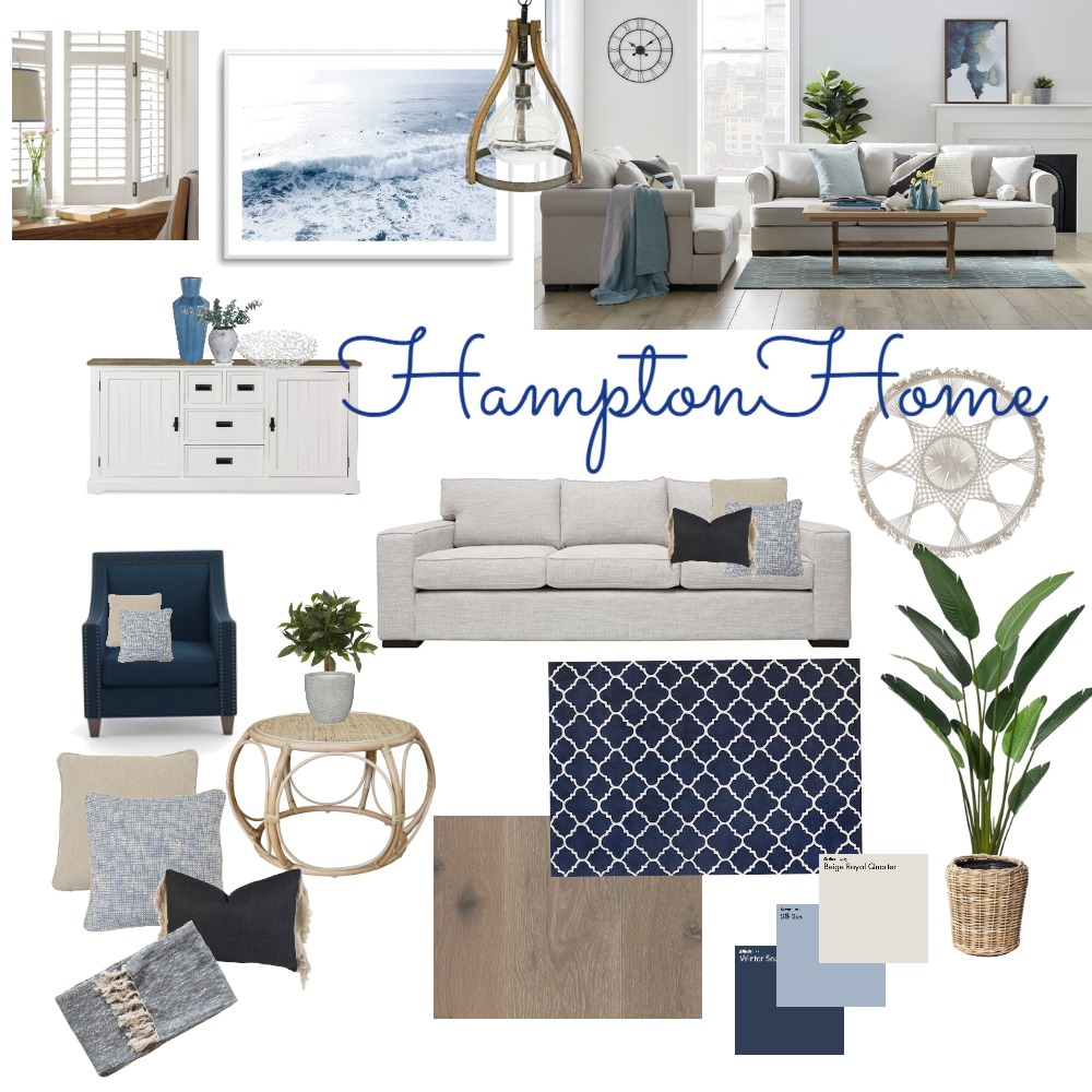 Hampton Home Interior Design Mood Board by angiel on Style Sourcebook