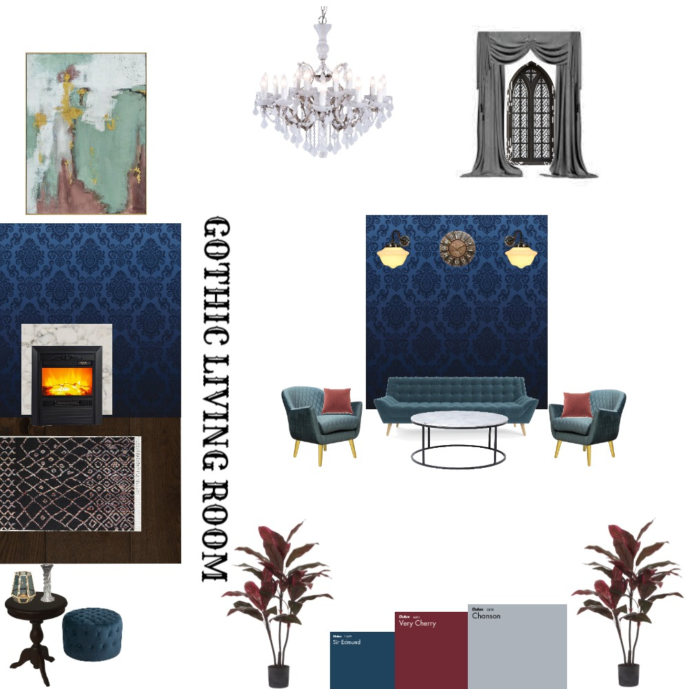 GOTHIC MOOD BOARD Interior Design Mood Board by Jatin Pathak on Style Sourcebook