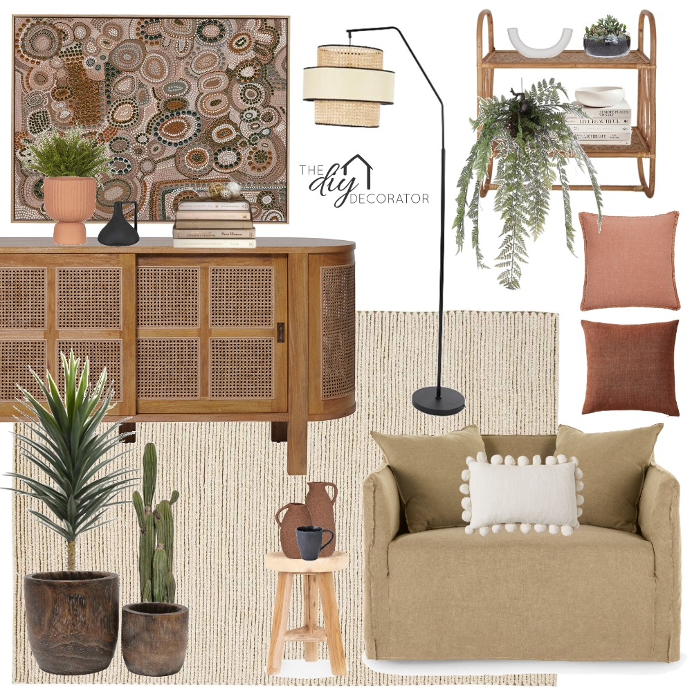 Neutral living Interior Design Mood Board by Thediydecorator on Style Sourcebook