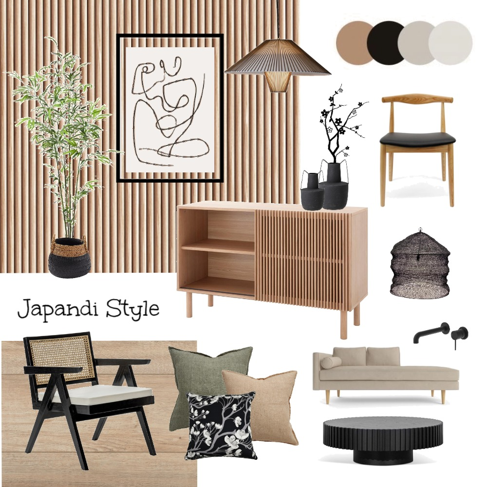 Japandi Style Interior Design Mood Board by Indah Interior Styling on Style Sourcebook