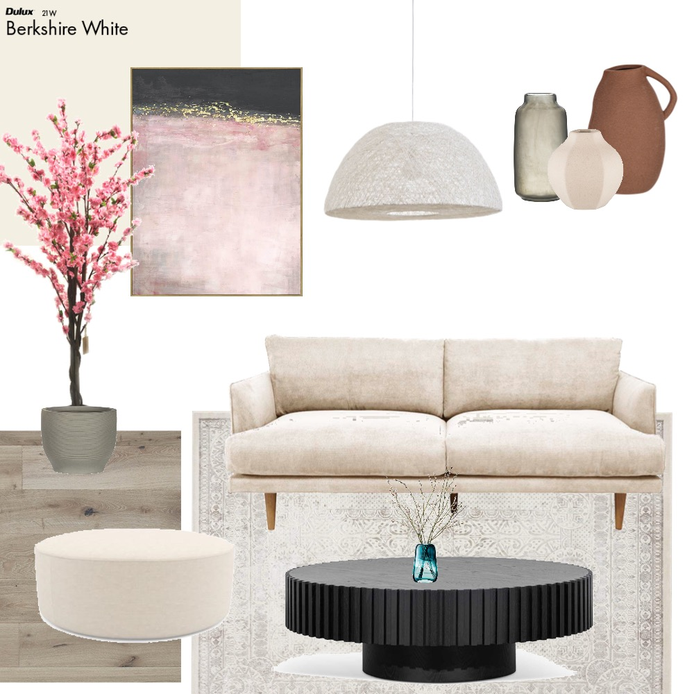 Cherry blossom in the Living Room Interior Design Mood Board by maki.fleur on Style Sourcebook