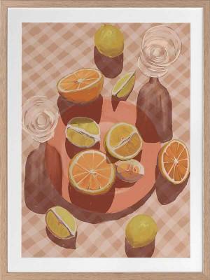 Slice of Orange Framed Art Print by Urban Road, a Prints for sale on Style Sourcebook