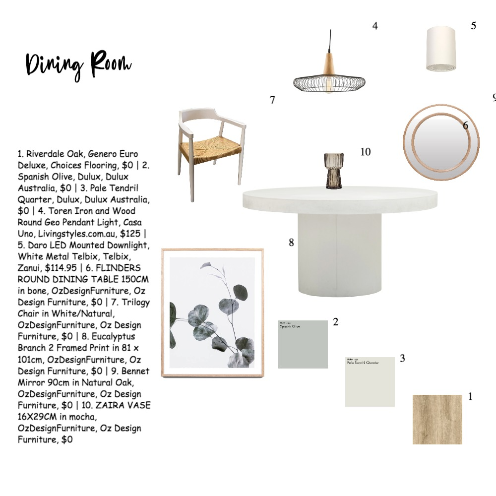 Dining Room Interior Design Mood Board by EllenZhang on Style Sourcebook