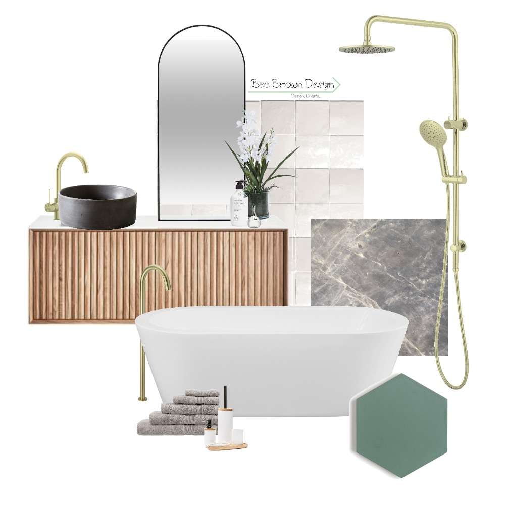 Contempo Bathing Interior Design Mood Board by Bec Brown Design on Style Sourcebook
