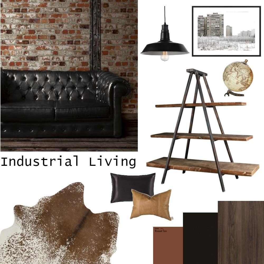 Industrial Living Interior Design Mood Board by kirals on Style Sourcebook