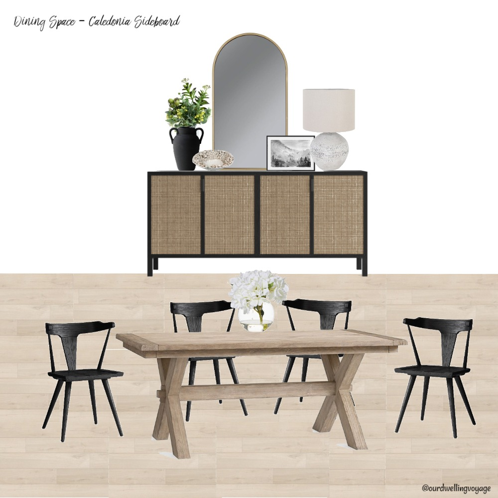 Dining Space - Caledonia Sideboard Interior Design Mood Board by Our Dwelling Voyage on Style Sourcebook