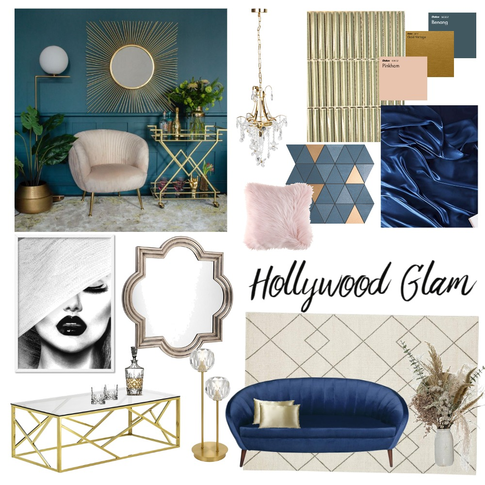 Hollywood Glam Interior Design Mood Board by Housley Interiors on Style Sourcebook