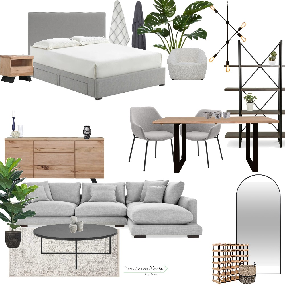 Modern with Timbers Interior Design Mood Board by Bec Brown Design on Style Sourcebook
