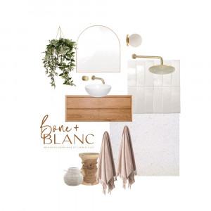 mayf springs ensuite Interior Design Mood Board by bone + blanc interior design studio on Style Sourcebook